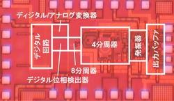 写真1 周波数シンセサイザICの試作チップ(提供:東芝)