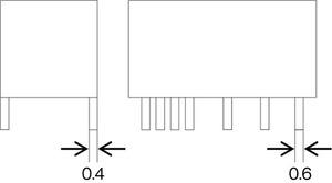 図2 タイマーリレーのリード寸法