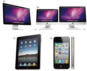 写真1 IPS型LCDを採用したApple社の製品