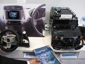 写真1 「GENIVIApollo」を用いた車載情報端末