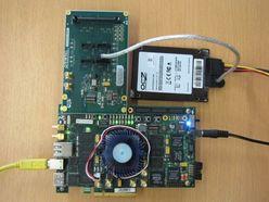 図2 データ転送速度の評価に用いたシステム
