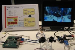図1 BMW仕様の車載用Ethernet AVBで接続した車載カメラシステム