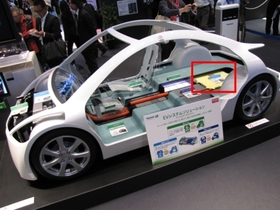 図2 EV向けに展開している製品/技術を紹介するコーナー
