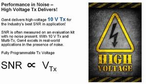 図1 センシング用電極の駆動電圧を最大10Vに設定可能(提供:Cypress Semiconductor)
