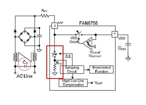 図1 コンデンサの放電回路