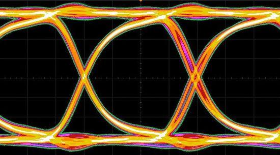 図1 6Gビット/秒のデータ伝送波形