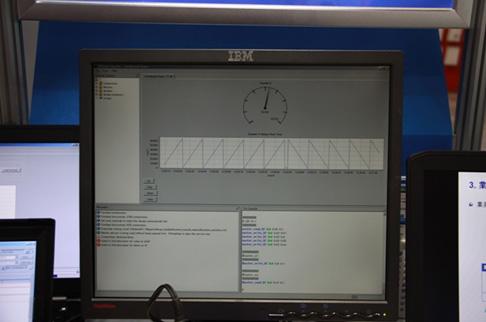 写真4:オンチップ・デバッグ機能により、データをリアルタイムに解析することができる