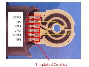 再調査したアクセルペダル位置センサーの内部
