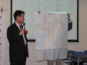 千葉国道事務所で集約した千葉県内の被災/通行規制情報を書き込んだ地図