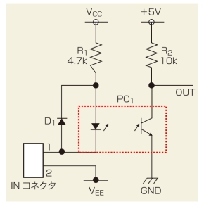 図1 フォトカプラに不具合が発生した製品の回路図
