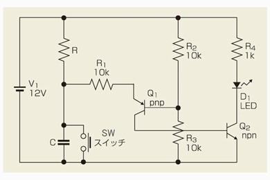 図3 コンパレータを利用した遅延回路