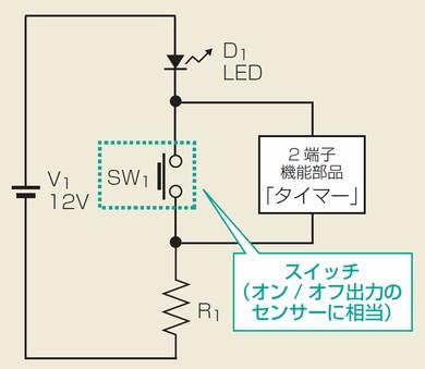 図3 人感センサーやセンサーライトに使えるタイマー回路
