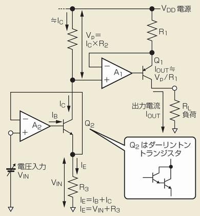 図3 電圧でプログラムできる可変定電流源
