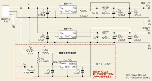 図1 モータードライバの電源部