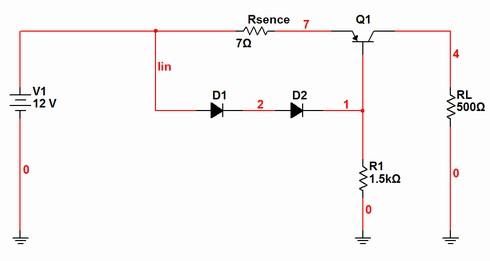 図2 図1のシミュレーションに使用した回路例