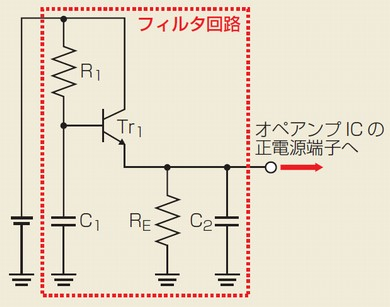 図2 トランジスタを使ったリップルフィルタ