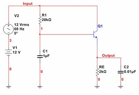 図3 シミュレーションに用いた回路図
