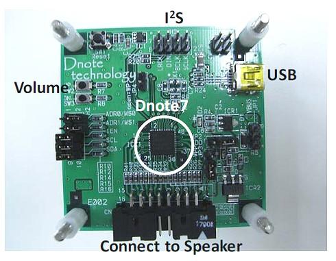 Dnote7S/7Uの評価ボード
