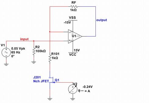 図1 ゲイン制御アンプの回路図