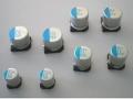 表面実装タイプの導電性高分子ハイブリッドアルミ電解コンデンサ