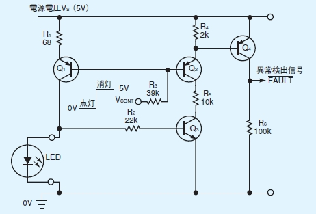 LEDの異常を検出できるドライバー回路