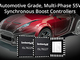 車載設計を簡素化する同期整流昇圧コントローラ