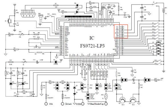テスター用ICの参考回路図