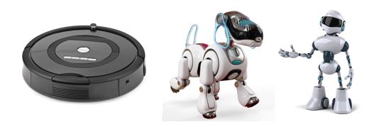 図1、家庭用および個人用ロボットの例