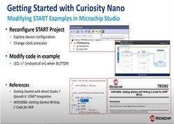 Curiosity Nanoの使い方: Microchip StudioでSTARTサンプルを編集する方法