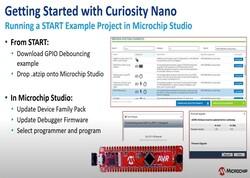 Curiosity Nanoの使い方: STARTサンプル プロジェクトの実行