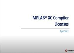 MPLABR XCコンパイラ ライセンスの説明