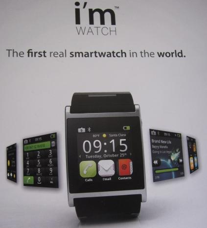 図1 Androidベースの腕時計型コンピュータ
