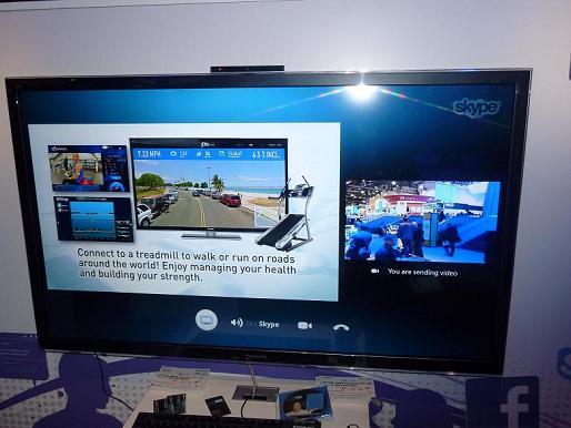 図2 テレビ番組を見ながらSkypeで通話できる