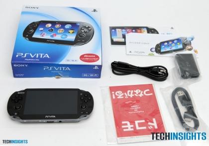 PS Vitaの箱を開けたところ