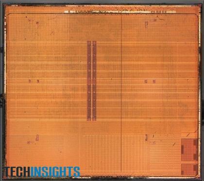 図1 クアッドコアプロセッサのダイ写真
