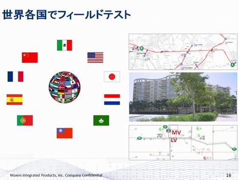 世界各国でフィールドテスト