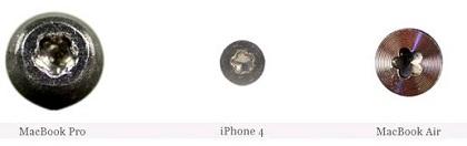 Appleが採用しているネジ