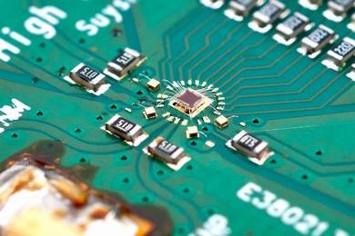 開発したA-D変換器ICの評価ボード