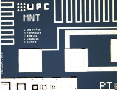 風センサーに用いているシリコンチップ