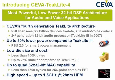 CEVA-TeakLite-4の特徴