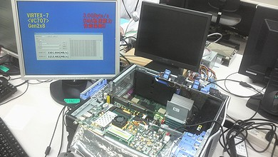PCI Express Gen2のDMA転送を実動デモで披露
