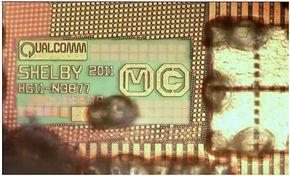 MDM9615」のダイ上の刻印