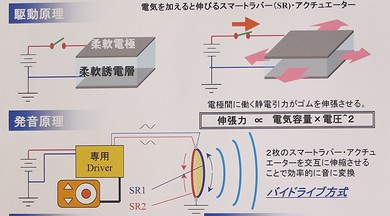"""CEATEC 2012:低音域まできっちり再生、""""オールゴム""""の薄型 ..."""