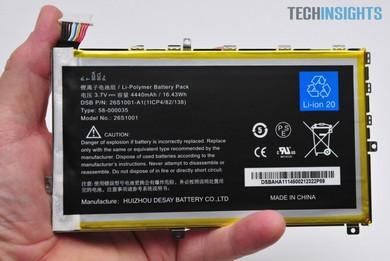 電池の容量は4440mAh