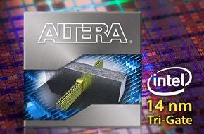 Alteraが製造に利用するIntelの14nmトライゲート技術のイメージ