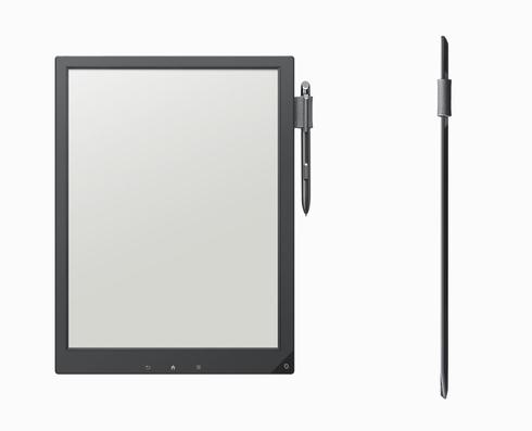 「デジタルペーパー」端末の試作機のイメージ