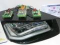 デュアルLEDドライバIC「NCV78663」を実装したドライバモジュールのデモ展示