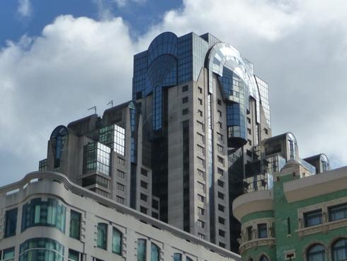 会場ホテル「San Francisco Marriott Marquis」の外観