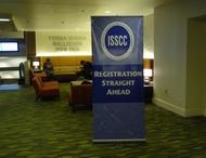 ISSCC会場ホテルの廊下にある案内看板
