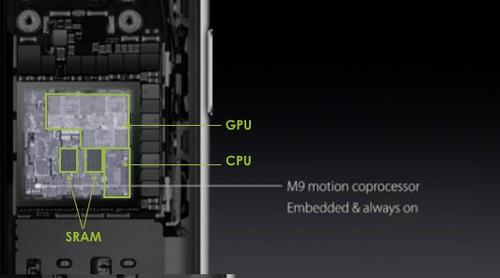 基調講演で表示された、A9を紹介するスライド 出典:Apple